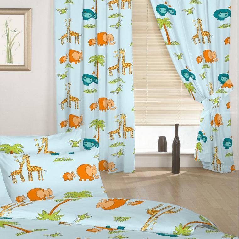 bonitas cortinas animales selva