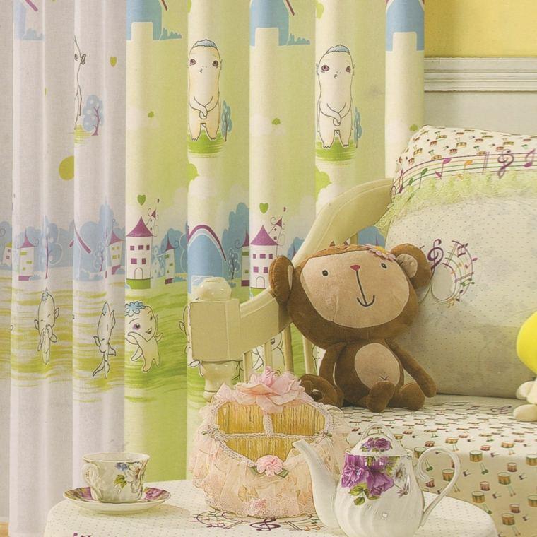 bonitas cortinas habitación infantil