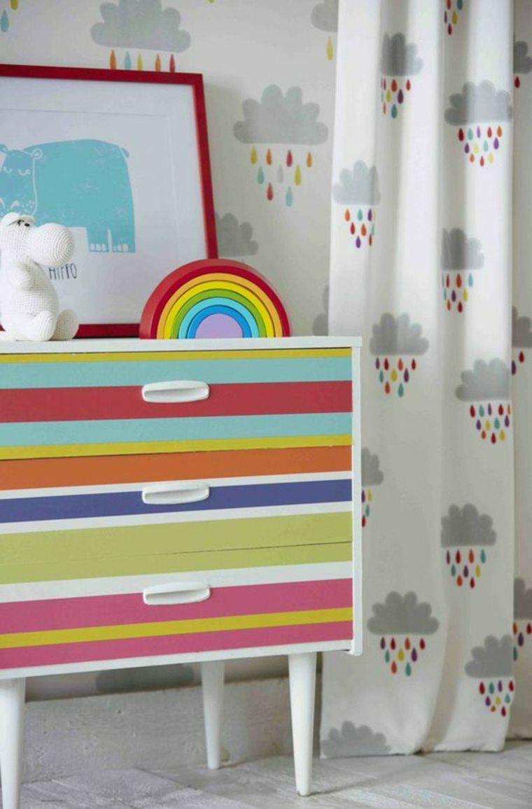 Originales diseños de cortinas para niños nubes