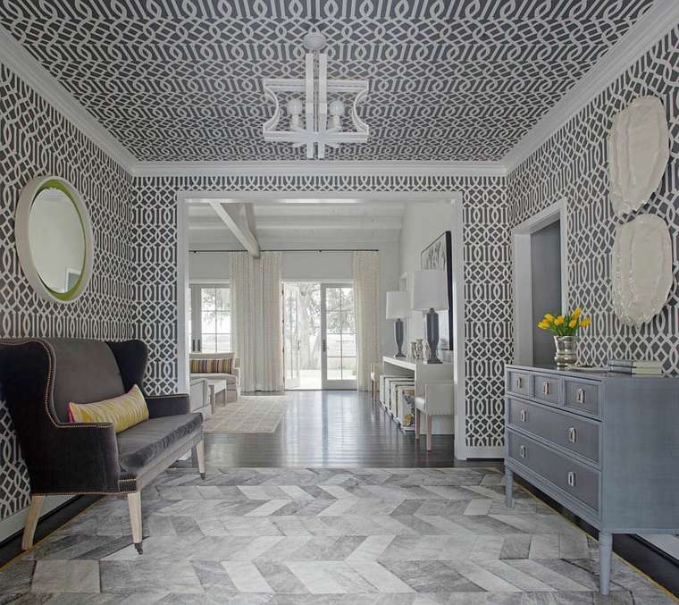 Papel pintado para pasillos patrones