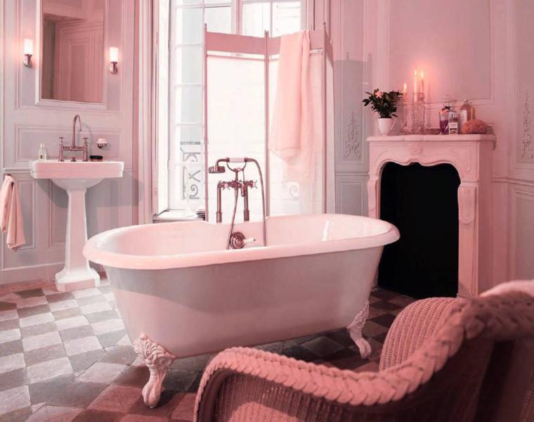 bonito baño diseño retro