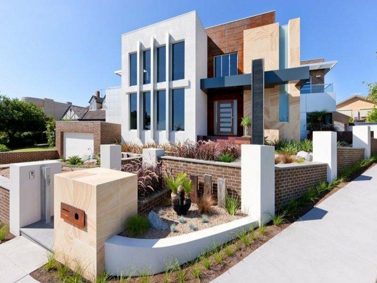 bonito diseo fachada moderna - Chalets Modernos