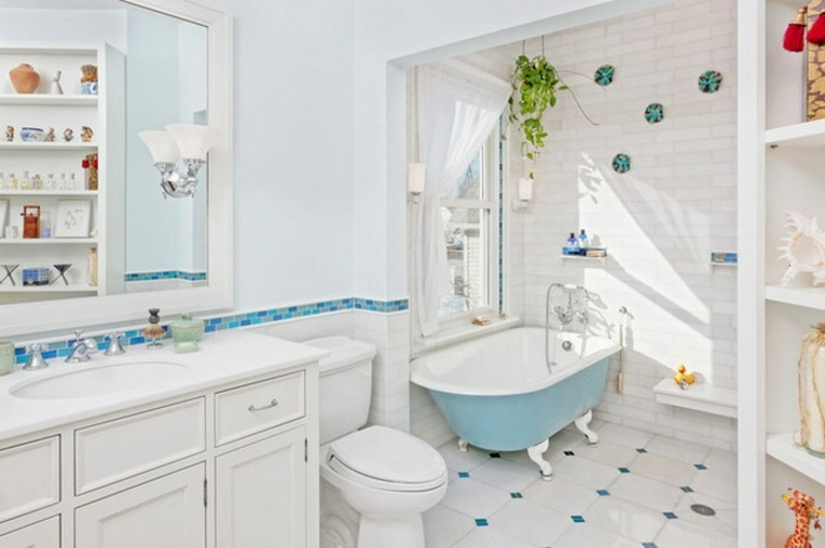 bonito cuarto baño infantil retro