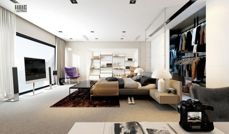 bonito dormitorio moderno lujoso