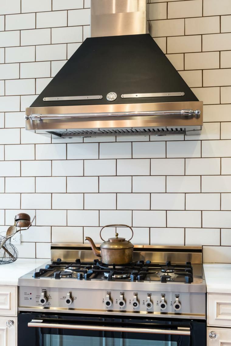 bonito diseño cocina estilo retro