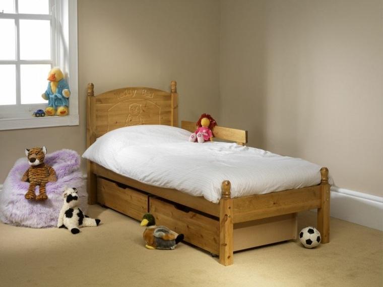 bonito diseño cama madera