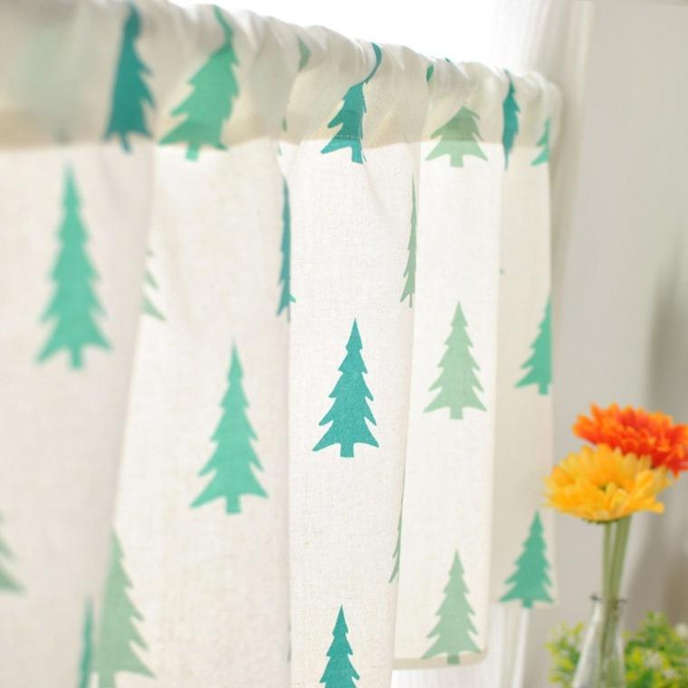 bonito diseño cortina pinos