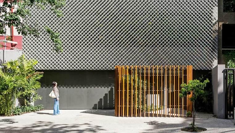 bonito diseño fachada moderna