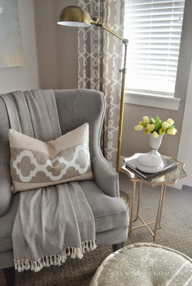 bonito sillón color gris