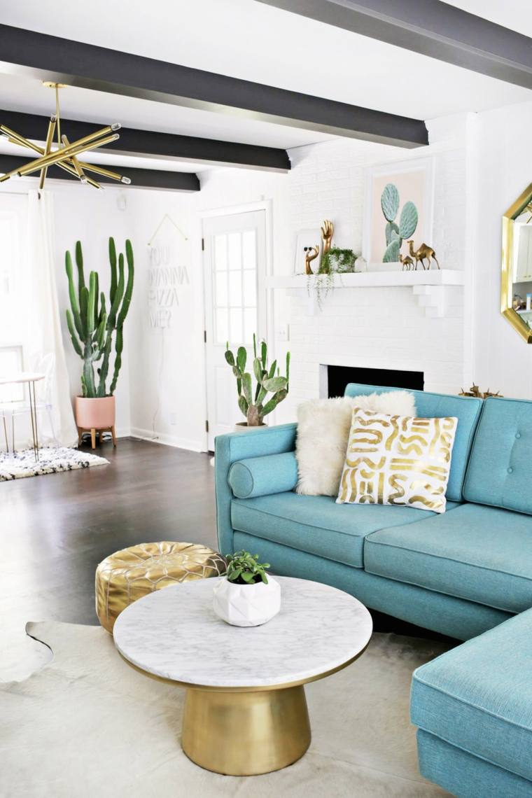 bonito sofa color turquesa