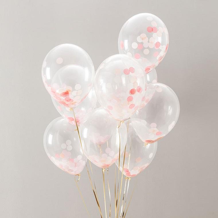 bonitos globos confeti rosa
