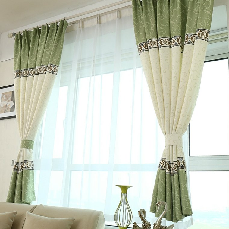Cortinas para ventanas peque as 24 dise os estupendos for Cortinas largas