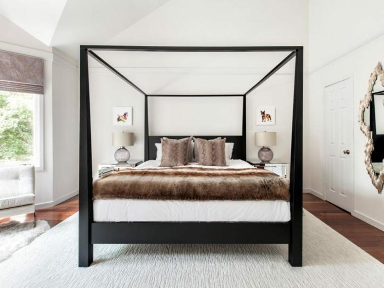 cama dosel especial madera conceptos