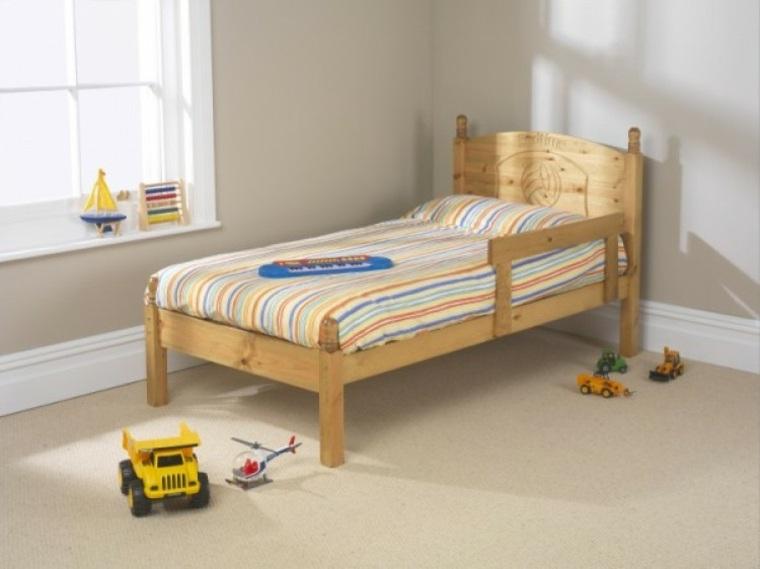 cama madera diseño sencillo
