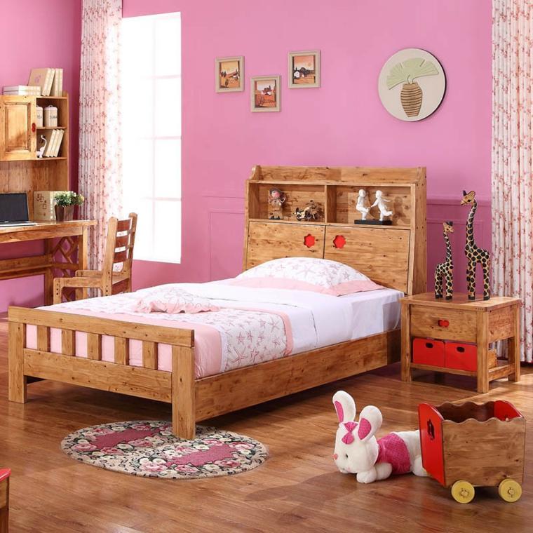 cama madera habbitación infantil