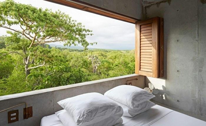 casa de hormigon casa tiny dormitorio ventana ideas