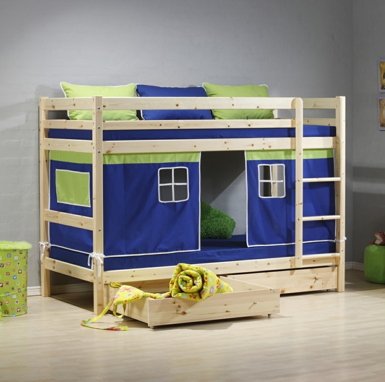 casita modular camas literas madera