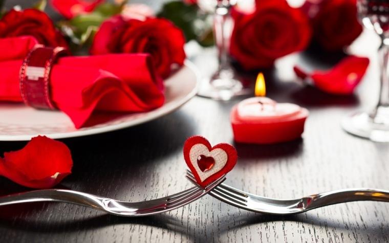 cenas románticas en casa decorar