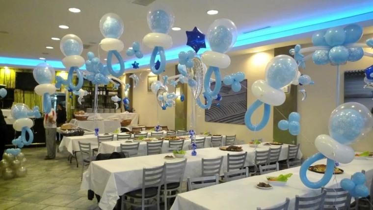 centro de mesa con globos decorar