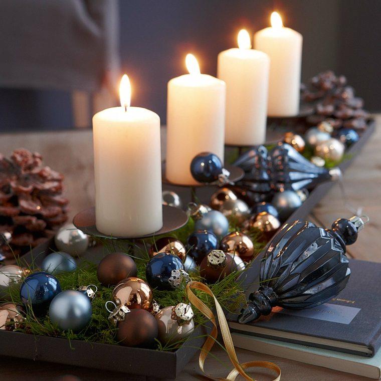 centro de mesa navideño decorar