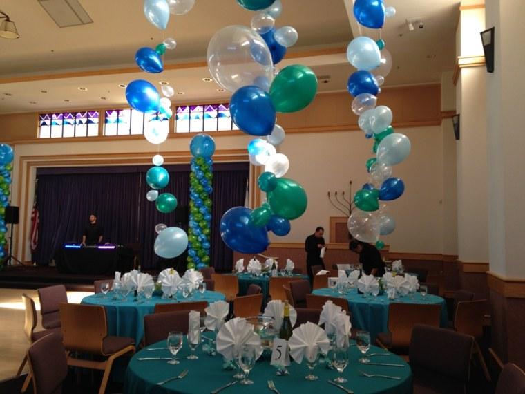 centro mesa con globos decorar