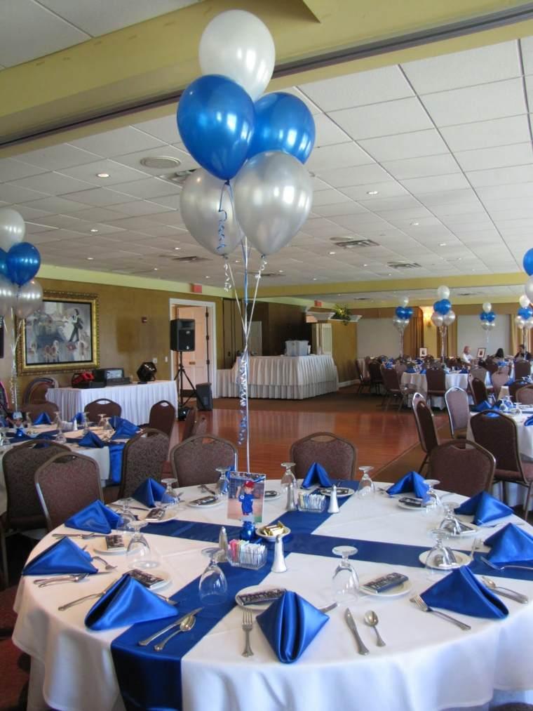 centro mesa con globos