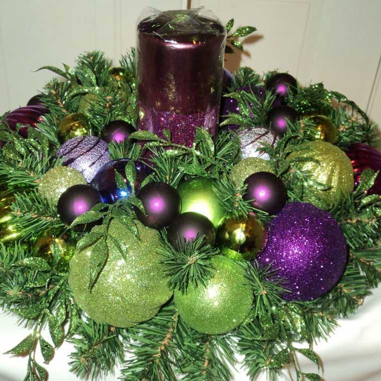 centro navideño decoración mesa