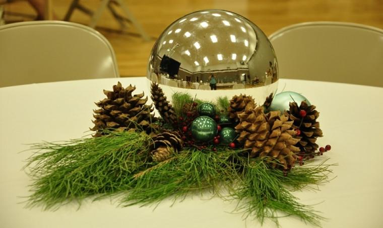 centro navideño decoración mesas