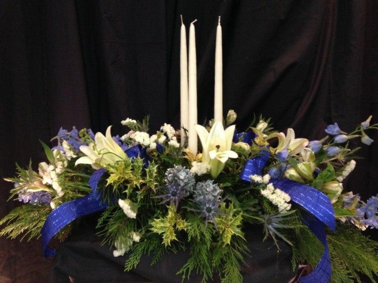 centro navideño decorar mesa