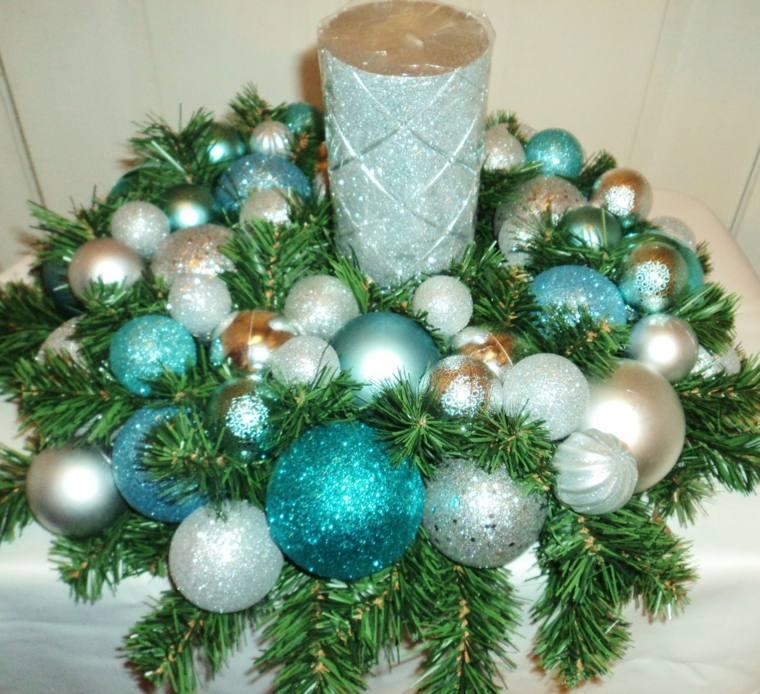 centro navideño decorar mesas