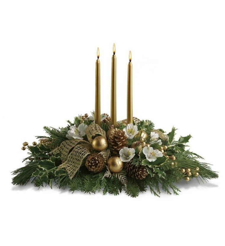 centro navideño mesa