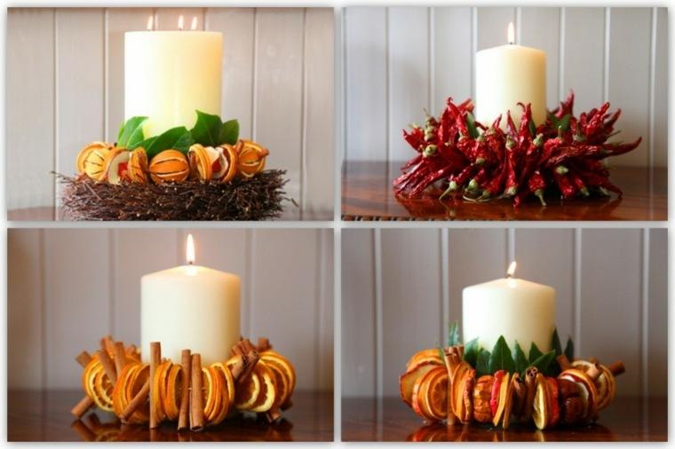 centros de flores y frutas