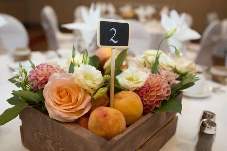 centros de frutas decoración mesa
