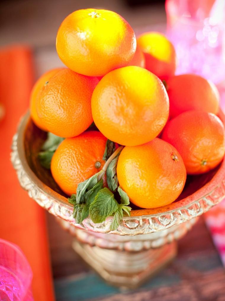 Centros de frutas para decorar la mesa y el interior for Frutas de cristal