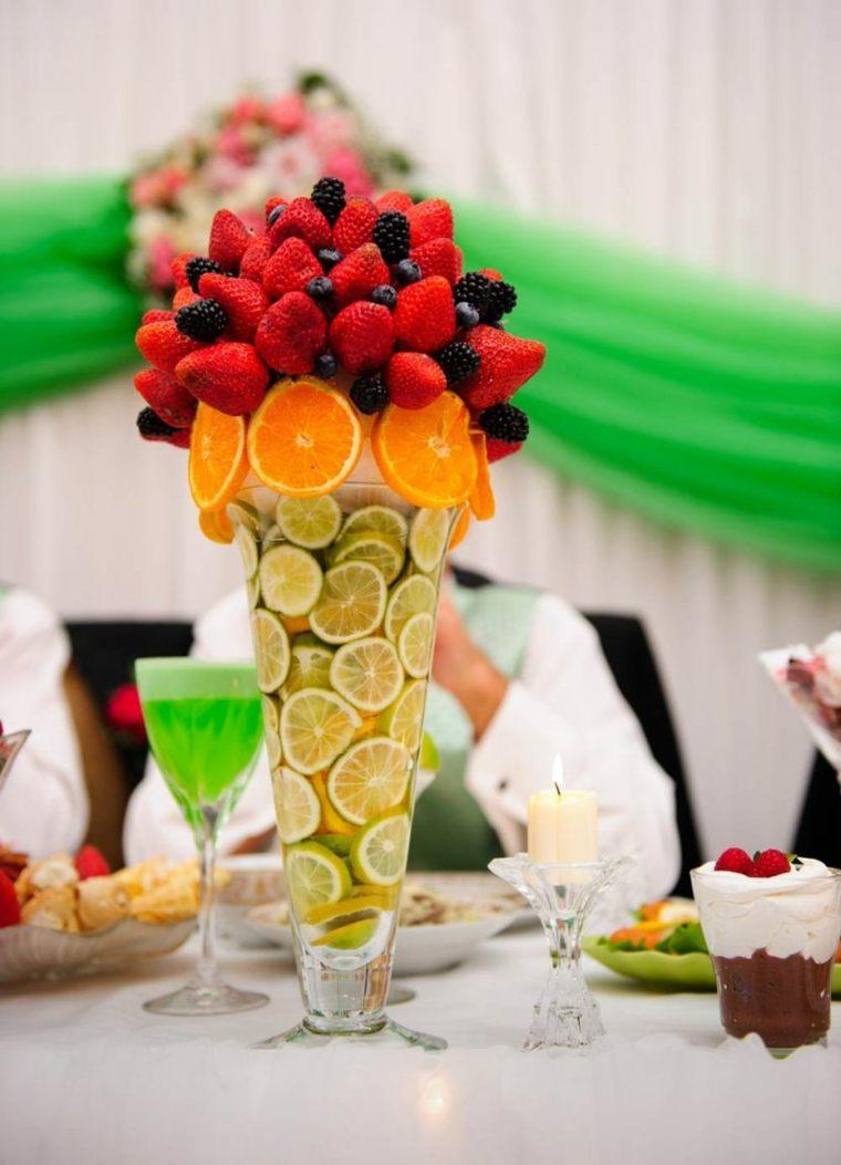 centros de frutas fiestas