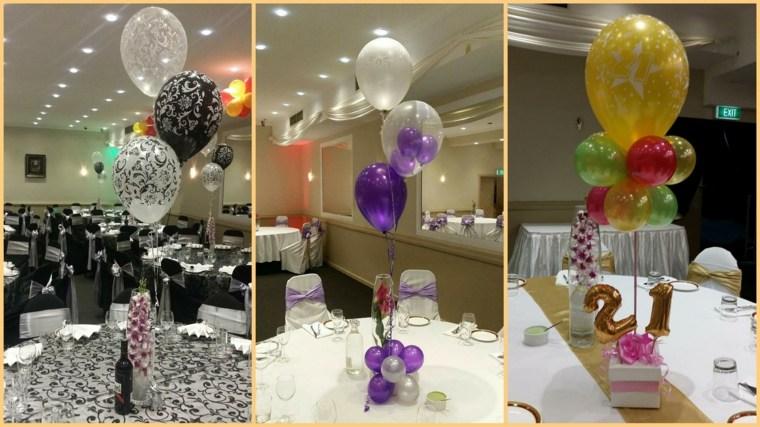 centros de mesas con globos decorar
