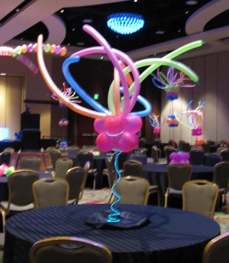 centros de mesa con globos decoración eventos
