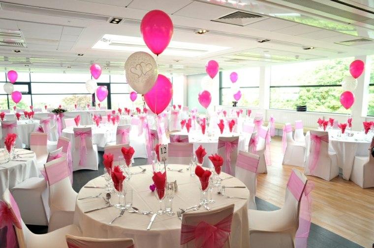 centros de mesa con globos decoracin interior