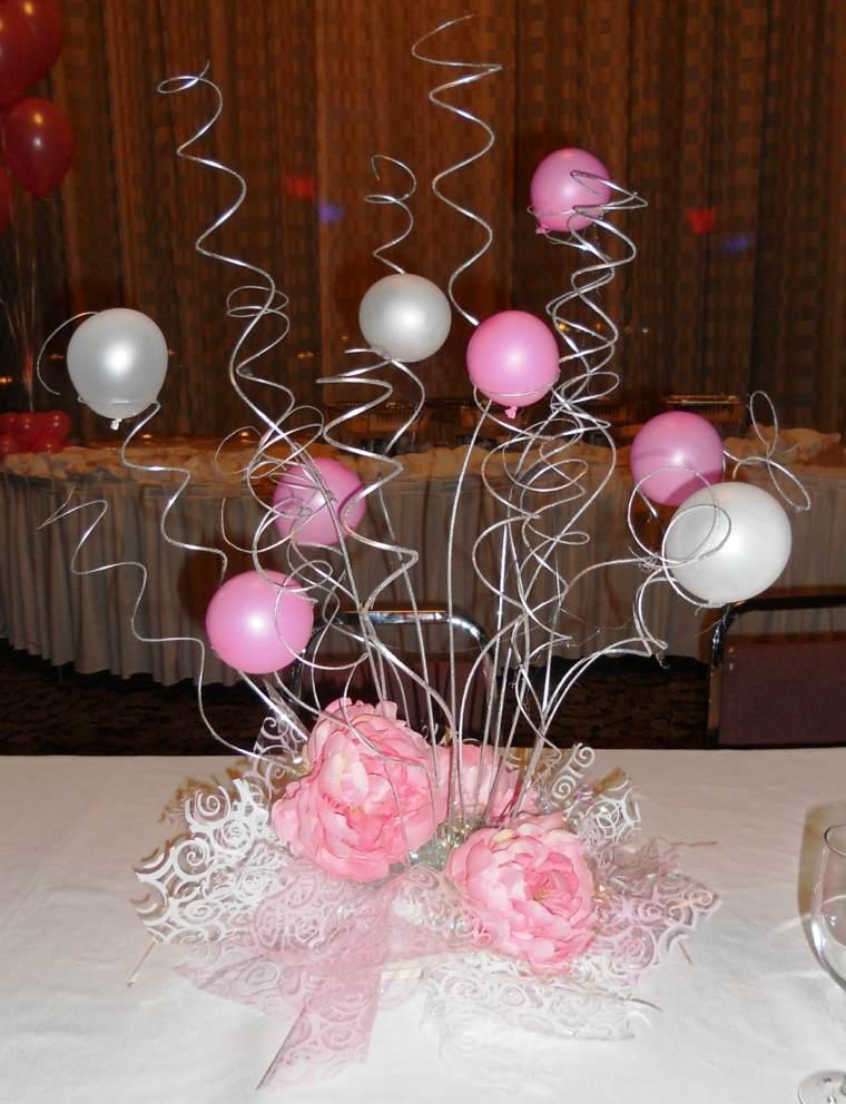 Centros de mesa con globos para decorar en fiestas - Adornos mesa de centro ...