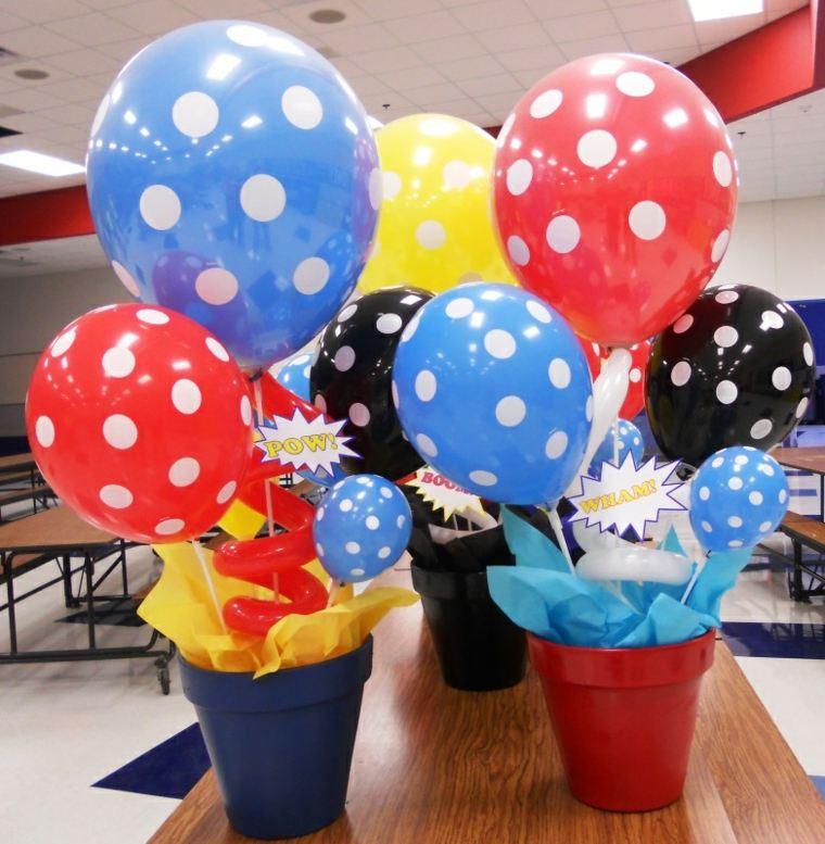 centros de mesa con globos originales