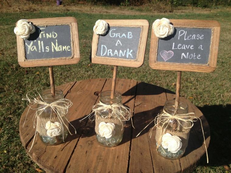 centros de mesa rústicos para bodas decorar
