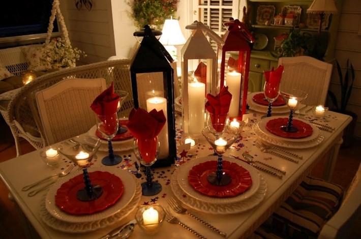 centros de navidad ideas faroles velas acogedores