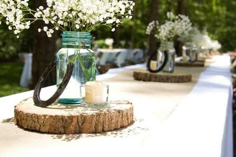 centros mesa boda campestre