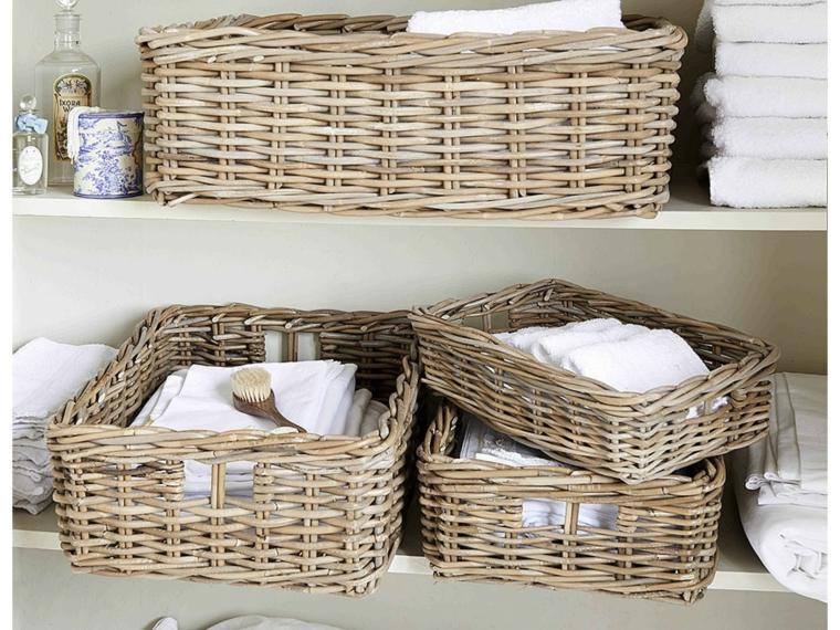 cestas baño organizar