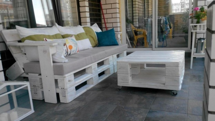chill out palets muebles color blanco original ideas