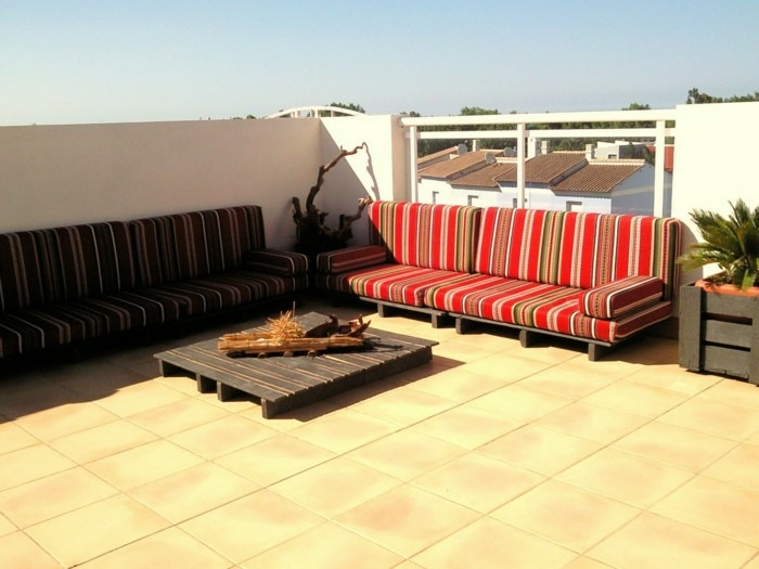 chill out palets muebles terraza diseno original ideas