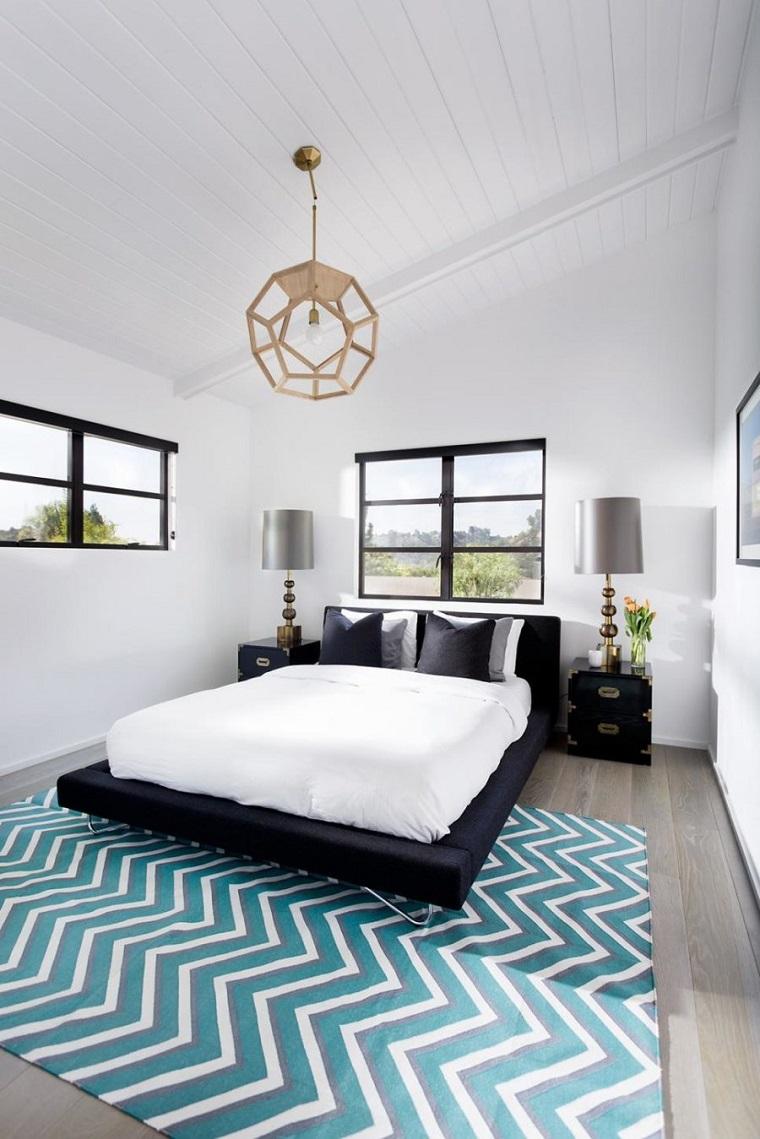 cntemporanea alfombra blanco acento geometricas