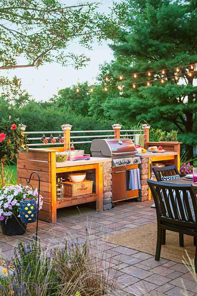 cocina aire libre opciones diseno estilo moderno ideas