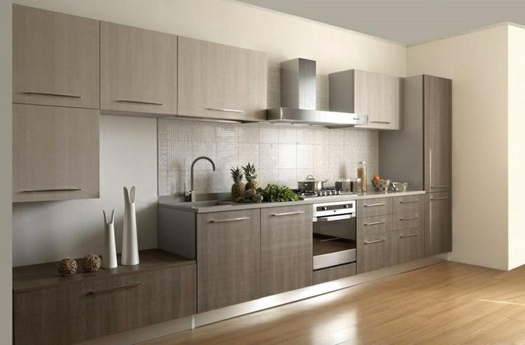 Cocinas modernas baratas para decorar los interiores -