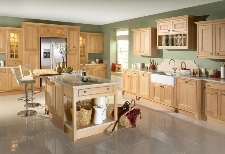 cocinas modernas baratas decorar madera